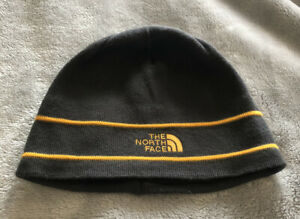 NORTH FACE  Beanie Hat Grey And Yellow.  Adult Unisex. New.