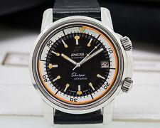 Enicar1443503 Vintage Sherpa Ultra Dive SS RARE ORANGE RING