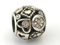 Brighton Shapes of Love Bead, Silver Finish and Crystals, JC2082  New