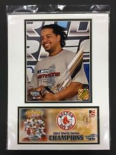 MANNY RAMIREZ RED SOX 2004 WORLD SERIES MVP 12X16 MATTED PHOTO & EVENT COVER