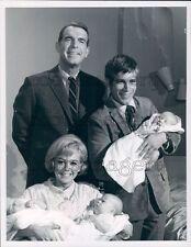 1969 Fred MacMurray Don Grady Tina Cole Triplets My Three Sons TV Press Photo