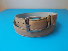 "L Size 38-40 Men's Ivory Genuine Leather Dress Belt Width 1 1/4"""