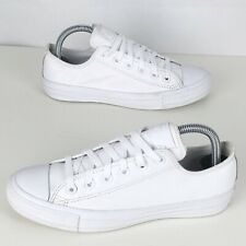 Unisex CONVERSE ALL STAR White Leather Lace Up Trainers Size UK 5 (eur37.5)