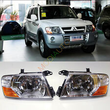 For Mitsubishi Pajero Montero 2000-2006 Front Head lamp Headlights Assembly Set