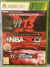 XBOX 360 WWE´13 + NBA 2K13 + TOPSPIN 4 PAL ESPAÑA