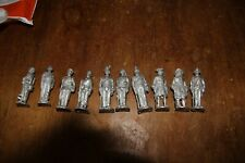 JOB LOT 10 X WHITE METAL VARIOUS 54 MM SOLDIERS