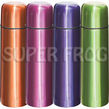 Stainless Steel Thermos Flask Vacuum Bottle Push Button Lid Insulated Cup 500ml