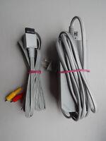 Nintendo Wii Power AC Adapter Cord RVL-002 & AV Cable OEM Genuine Official Brand