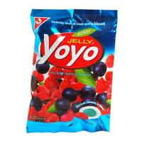 Yoyo Jelly Tropical Sweet Berry Fruit Juice Jalatin Gummy Jelly Candy 80g.