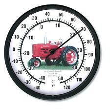 """New McCormick Farmall Tractor Wall Thermometer 10"""" Round Years 1939-1952 Model M"""