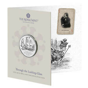 New** 2021 Alice Through the Looking Glass BU £5 coin - Five Pound Pack
