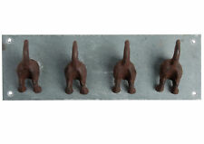 Hierro fundido Ganchos De Abrigo Perro Cachorro Colgador de peso pesado de cola montado en la pared 30cm X 12cm