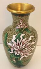 Enameled Cloisonne Vase with Chrysanthemums, 1950s