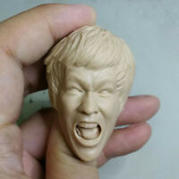 "Blank Hot 1/6 Scale The Big Boss Bruce Lee Head Sculpt Unpainted Fit 12"" Body"