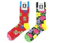 Happy Socks Set 2 Paar Socken 2er Set Andy Warhol Dollar Flower Herren Gr 41-46