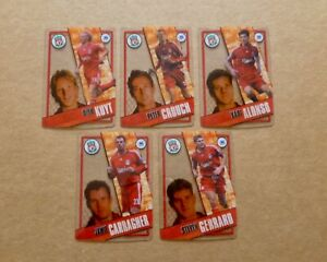 TOPPS Premier League 06/07 - LIVERPOOL - x5 Crystal Acetate Cards 2006/2007