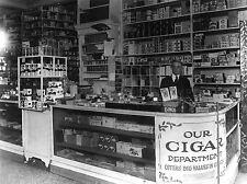 Fotografia nero bianco interni Drug Store Washington SIGARO CANDY lv3626
