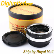 Camdiox Focal Reducer Speed Booster Nikon F G lens to Fujifilm X Adapter FX FUJI