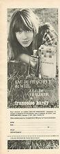 Publicité Advertising 1965  Parfum EAU DE FRAICHEUR de WEIL par Françoise Hardy