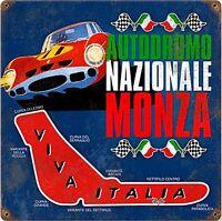Autodromo Monza Arrugginiti Insegna Acciaio 300mm x 300mm ( Pst 1212)