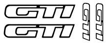 4 pegatinas de vinilo PEUGEOT  GTI  para COCHE ,no 250