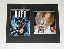 Leslie Easterbrook Rift Signed Matted DVD BACKING CARD 11x14 size COA PROOF