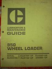Caterpillar 950 Wheel Loader Lube Maintenance Guide Manual