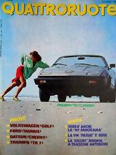 Quattroruote 296 1980 Triumph 'TR 7' Spider. Prove Datsun Cherry. La 127 [Q83]