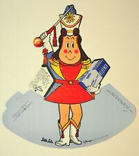 Vintage 1956 Kleenex Little Lulu Litho Counter Ad Display Sign Unused NOS New