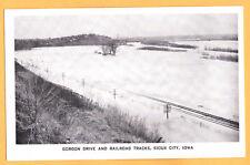 1952 Gordon Drive and Railroad Tracks, Missouri Valley Flood, Sioux City Iowa PC
