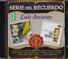 Luis Arcaraz Serie del Recuerdo Versiones Originales 2EN1 CD New Nuevo Sealed