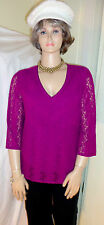 Sexy TOP 1X Special Occasion Party Super Soft Comfy Gorgeous Purple Lacy WOW