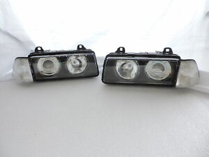 Glass Lens Projector Headlight+Clear Corner Lights For BMW E36 2D COUPE