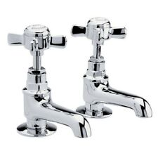 BASIN SINK TAPS CHROME TRADITIONAL BEAUMONT RANGE WASHER TAP SET 1 PAIR I321XE
