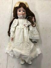 Vintage Seymour Mann 1984 Porcelain Doll with Miniature Look a Like Doll
