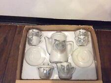 Porcelain Cat 13 Pc Tea Set