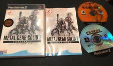Metal Gear Solid 2 Substance Primera Edición Play Station 2 PS2 PAL ESPAÑOL