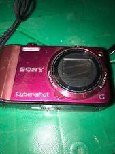 Sony Cyber-Shot DSC-H70 10x Optical Zoom 16.1 Mega Pixels Kenneth Cole Case Red