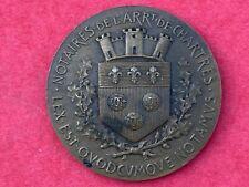 Jeton bronze des notaires de Chartres 1905 Eure et Loir Centre Val de Loire
