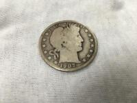 1907-D  Silver Barber Half Dollar  FULL DATE  NICE COIN, SEE DESCRIPTION!