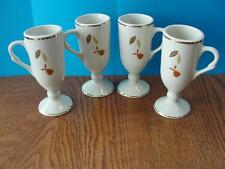 Jewel Tea Autumn Leaf Hall China set of 4 Espresso Coffee Mugs for N.A.L.C.C.