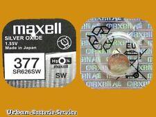 20  x Maxell 377 SR626SW 1,55V Knopfzellen Silber-0xide UhrenBatterien bis 2020