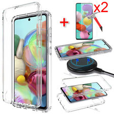 For Samsung Galaxy A21 A10e A20S A51 4G Clear Case Phone Cover Screen Protector
