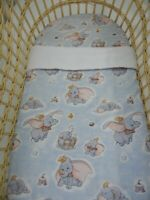 Dumbo Bassinet Fitted Sheet and Matching Blanket 80cm x 60cm