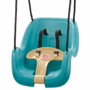 Step2 Teal Toddler Swing with T-Bar for Child Security with Weather-Resistant Ro