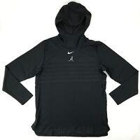 New Nike Alabama Crimson Tide Alpha Fly Rush Pullover Men's L Black $145 908415