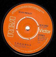 ELVIS PRESLEY T-R-O-U-B-L-E Vinyl Record 7 Inch RCA Victor 2562 1975