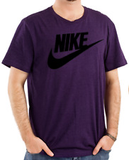 Nike Men's Short Sleeve Logo Swoosh Printed T-Shirt Red White Blue Purple Gray
