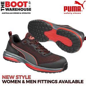 Puma Speed 644497 Black/Red Composite Safety Toe Runner, Jogger, Shoe LIGHTWEIGH