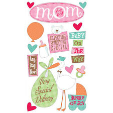 Scrapbooking Stickers Sticko Mom To Be Stork Special Delivery Baby On The Way